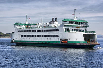 Ferry Boat Chetzemoka  Art Print by Bob Noble Photography