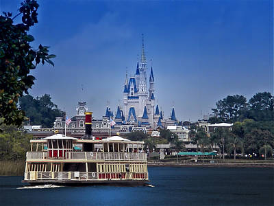 Woolworth Digital Art - Ferry Boat Magic Kingdom Walt Disney World  by Thomas Woolworth