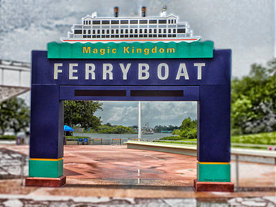 Ferry Boat Signage Walt Disney World Digital Art Art Print by Thomas Woolworth