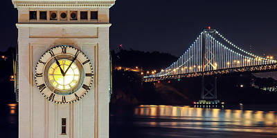 Ferry Building And Bay Bridge Art Print