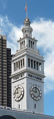 Old Fashoined Photograph - Ferry Building Clock Tower by Jo Ann Snover