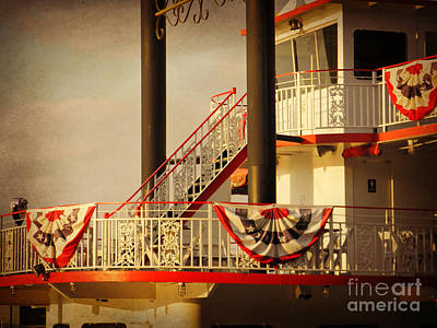 Ferry Bunting Art Print by Valerie Reeves