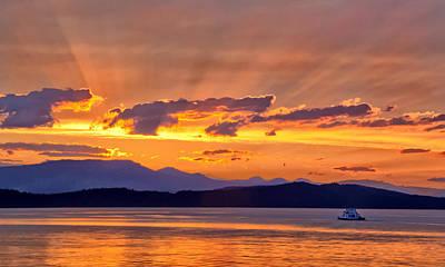 Photograph - Ferry Crossing Sunset by Carolyn Derstine