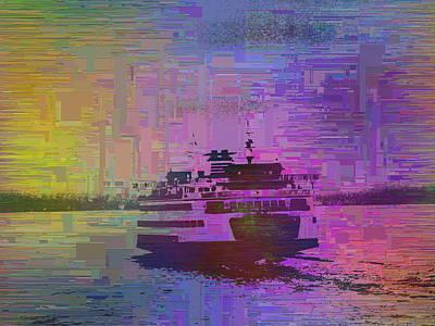 Sound Digital Art - Ferry Cubed 1 by Tim Allen
