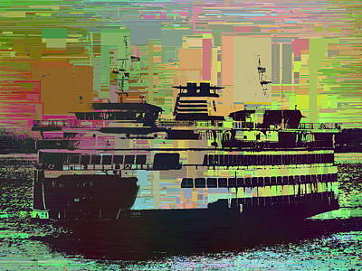 Digital Art - Ferry Cubed 2 by Tim Allen