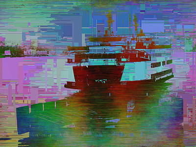 Digital Art - Ferry Cubed 3 by Tim Allen