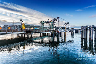 Photograph - Ferry Dock In Friday Harbor by Jo Ann Snover