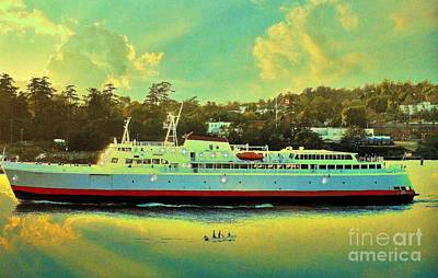 Photograph - Ferry Headed Out From Victoria At Sunset by Janette Boyd