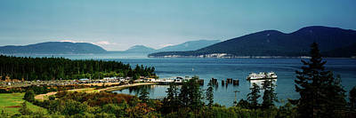 Anacortes Photograph - Ferry In A Lake, Washington State by Panoramic Images