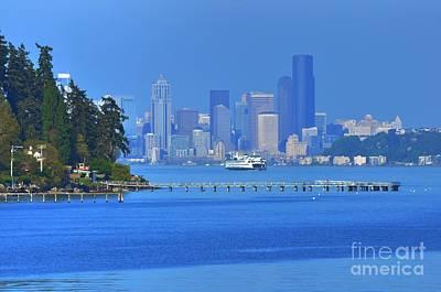 Ferry Ride In Seattle Art Print