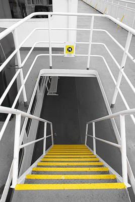 Art Print featuring the photograph Ferry Stairwell by Marilyn Wilson