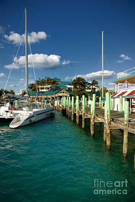 Bahamas Pier Photograph - Ferry Station Paradise Island by Amy Cicconi