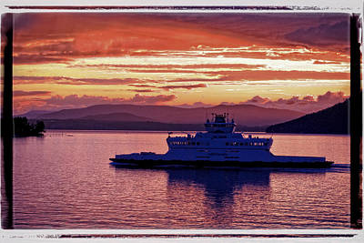 Photograph - Ferry Sunset by Craig Perry-Ollila