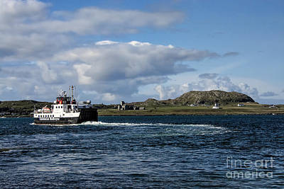 Ferry To Iona Art Print by Chris Thaxter