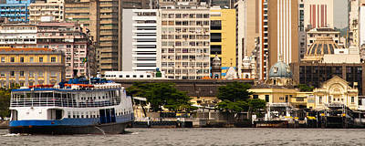 Photograph - Ferry With Buildings Of Rio De Janeiro by Celso Diniz