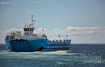 Photograph - Ferryboat In Chilean Waters by Gerda Grice