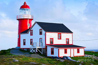Photograph - Ferryland Lighthouse by Les Palenik