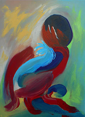 Painting - Fertile Thinker by Donna Blackhall