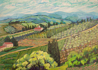 Painting - Fertile Valley In Italy by Doris  Lane Grey