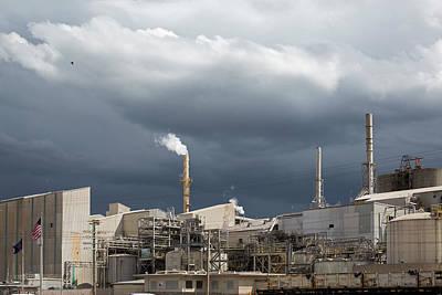 Grey Clouds Photograph - Fertiliser Factory by Jim West