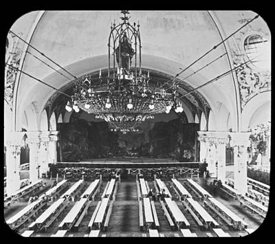 Festhalle Festival Hall Interior Dresden Germany 1903 Art Print by A Gurmankin