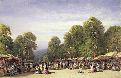 Stall Drawing - Festival At St. Cloud, C.1860 by William Wyld