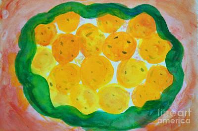 Zeni Shariff Painting - Festival Ladoos by Zeni Shariff
