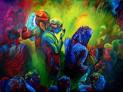 Painting - Festival Of Colors 2014 by Maris Sherwood
