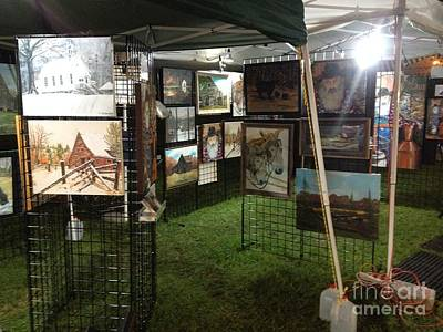 Painting - Festival Setup Three by Jan Dappen
