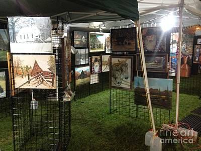 Painting - Festival Setup Three by Jan Dappen