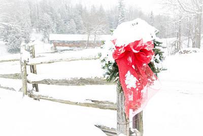 Photograph - Festive Fence by Cheryl Baxter