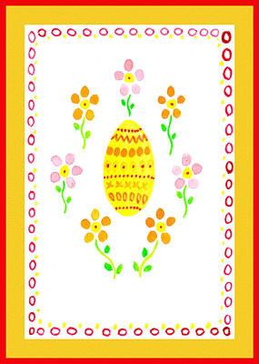 Painting - Festive Flowers Easter Chorus  by Irina Sztukowski