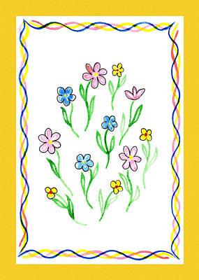 Painting - Festive Flowers I by Irina Sztukowski