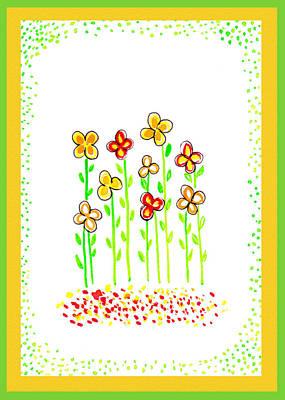 Painting - Festive Flowers II by Irina Sztukowski