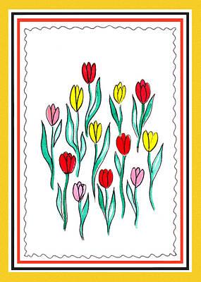 Painting - Festive Flowers IIi by Irina Sztukowski