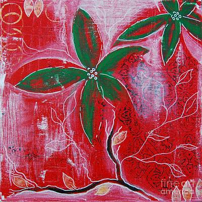 Painting - Festive Garden 3 by Jocelyn Friis