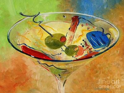 Painting - Festive Martini by Keith Wilkie