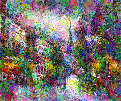 Digital Art - Festive Paris by Georgiana Romanovna