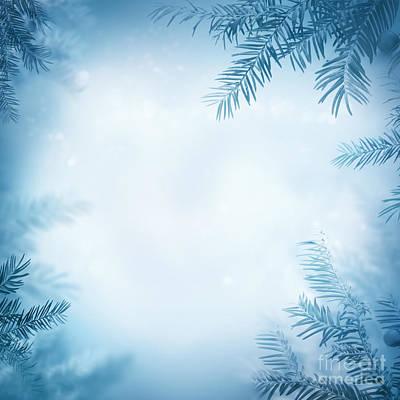 Festive Winter Background Art Print by Mythja  Photography