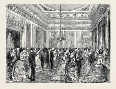 Festivities At Fishmongers Hall, The Court Dining Room Art Print by English School