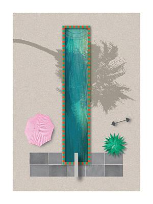 Digital Art - Festivus Lap Pool by Stan  Magnan