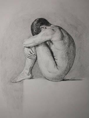 Art Print featuring the drawing Fetal by Rachel Hames