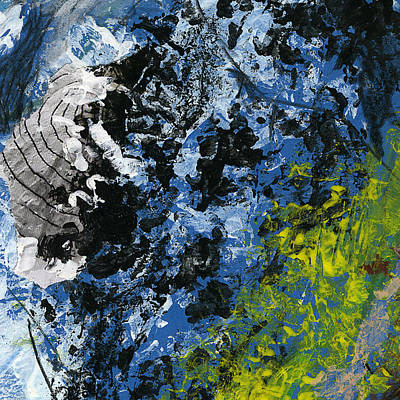 Abstract Collage Drawing - Fetch Away by Oksana Art