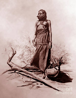 Indigenous Culture Drawing - Fetching Water by Joel Thompson
