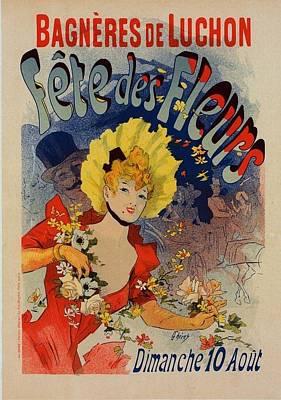 Fete Des Fleurs Art Print by Vintage