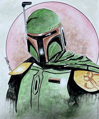 Painting - Fett by Dan Wagner