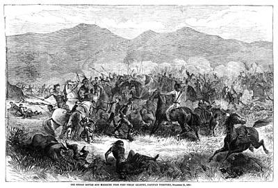 Bozeman Painting - Fetterman Fight, 1866 by Granger