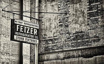 Photograph - Fetzer Refrigerator Company B/w by Greg Jackson