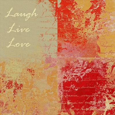 Nature Abstract Digital Art - Feuilleton De Nature - Laugh Live Love - 01at01 by Variance Collections