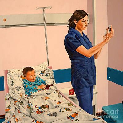 Painting - Fever - Fiebre  by Rezzan Erguvan-Onal